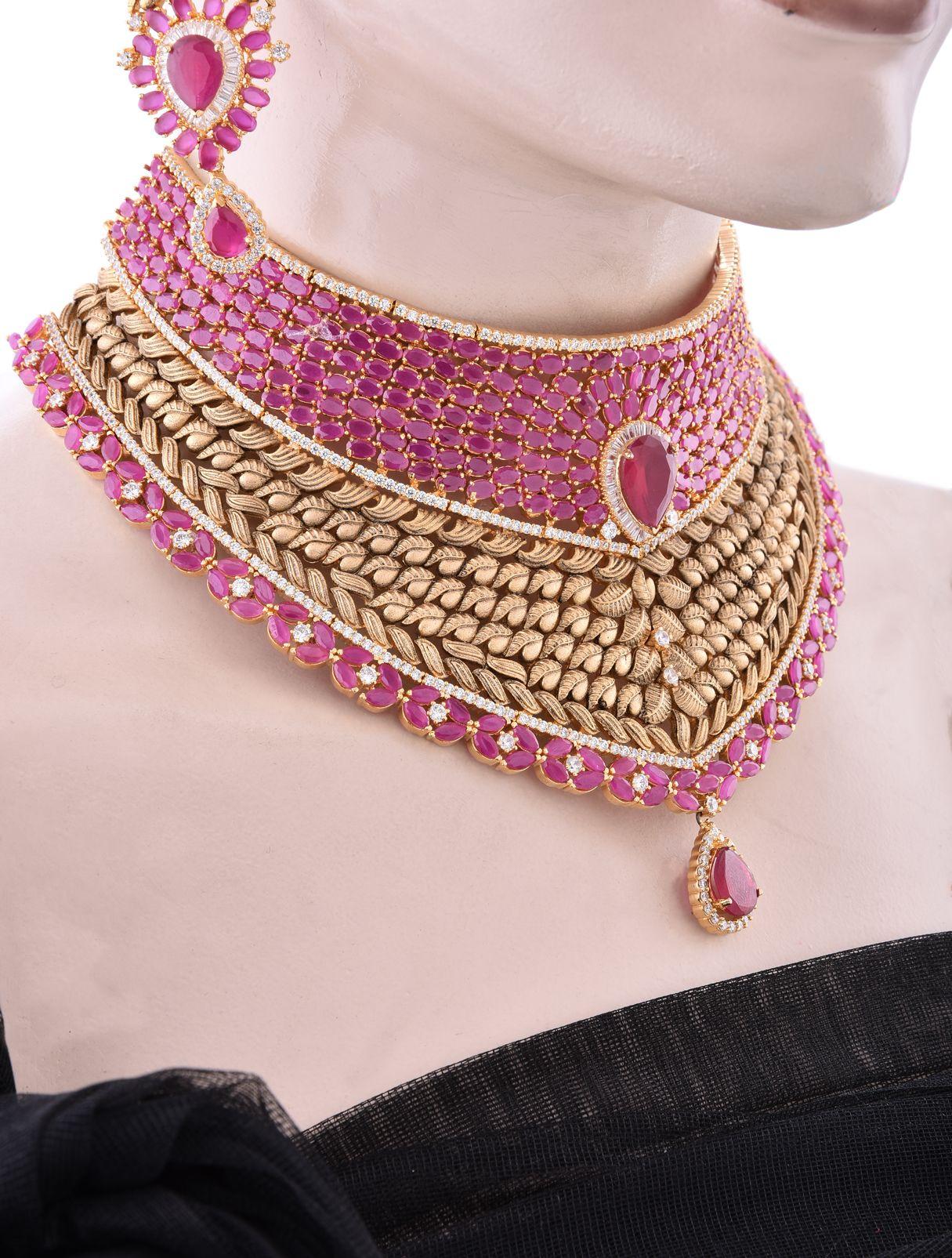 Grand Choker Set for Wedding Reception | Indian Bridal Jewelry ...