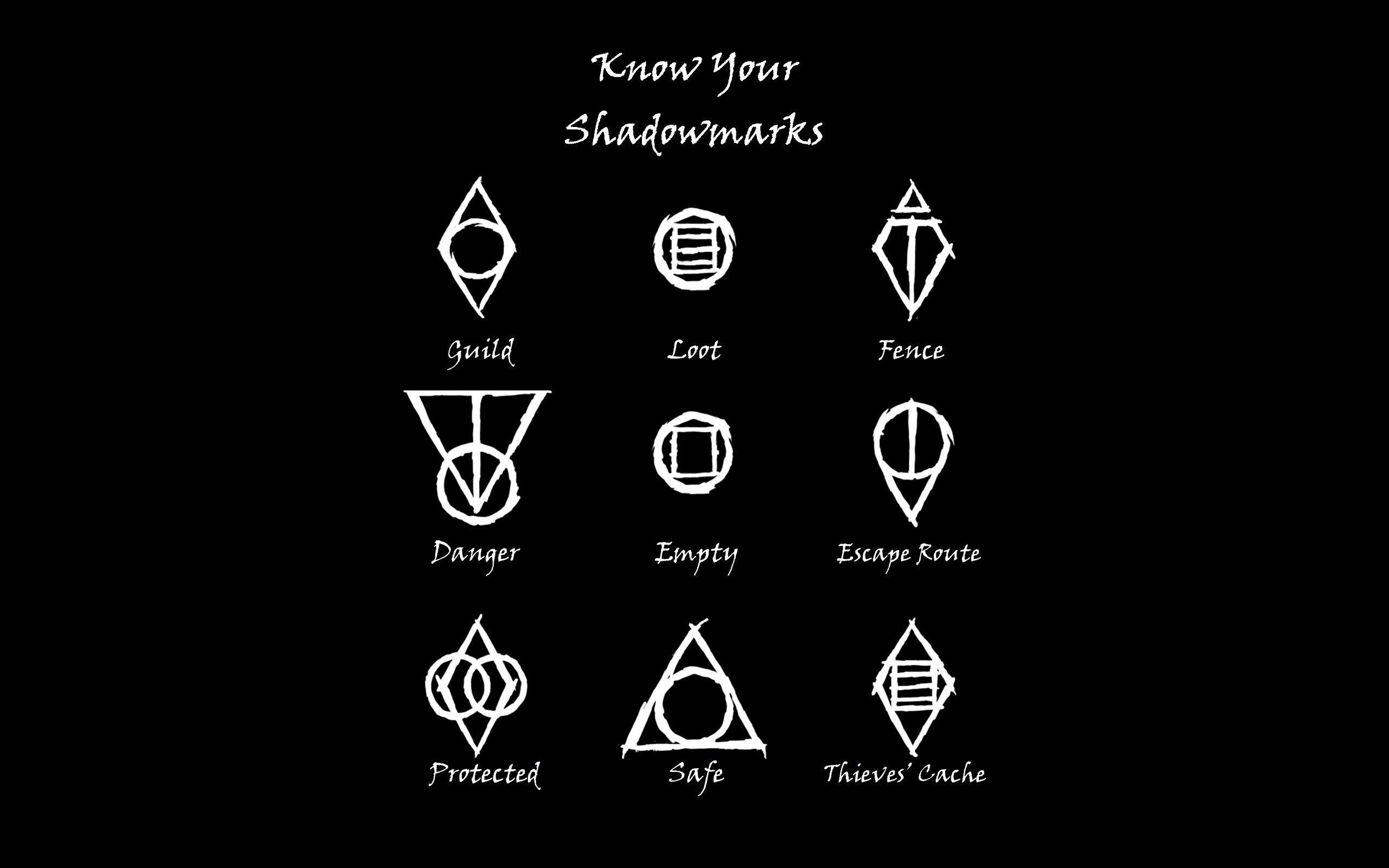 General 2560x1600 The Elder Scrolls V Skyrim Black Symbols Thieves