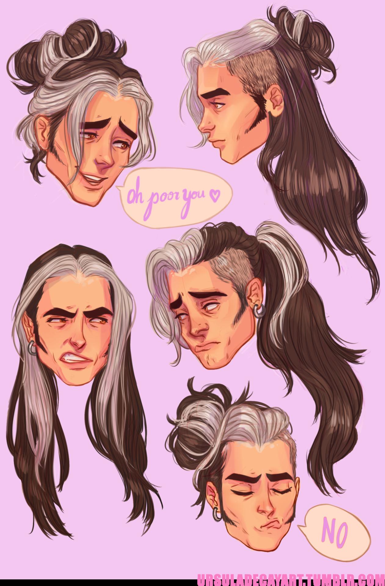 U R S U L A D E C A Y In 2020 Drawings Drawing Male Hair Art Sketches