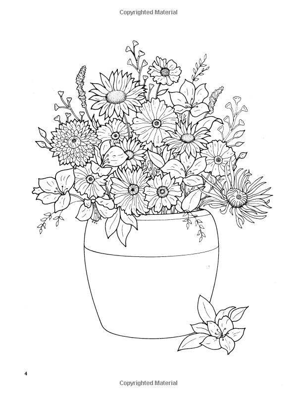 Tr s joli ce coloriage d 39 un pot de fleurs a vos crayons coloriage de fleurs coloriage - Coloriage fleur tres jolie ...