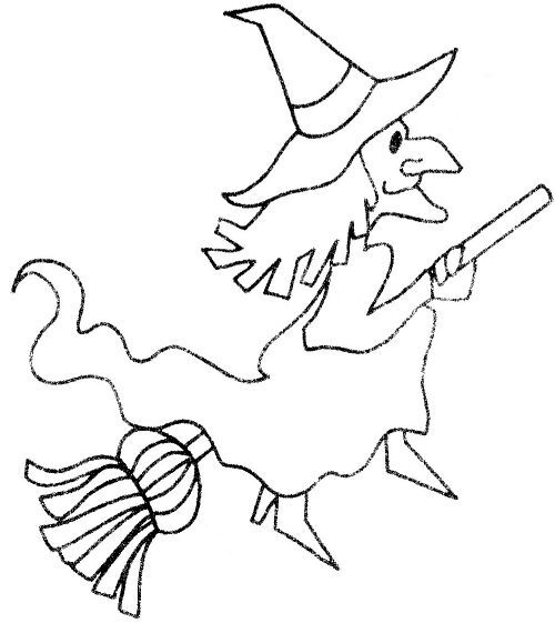 Halloween Craft Templates  Free Halloween Witch Template