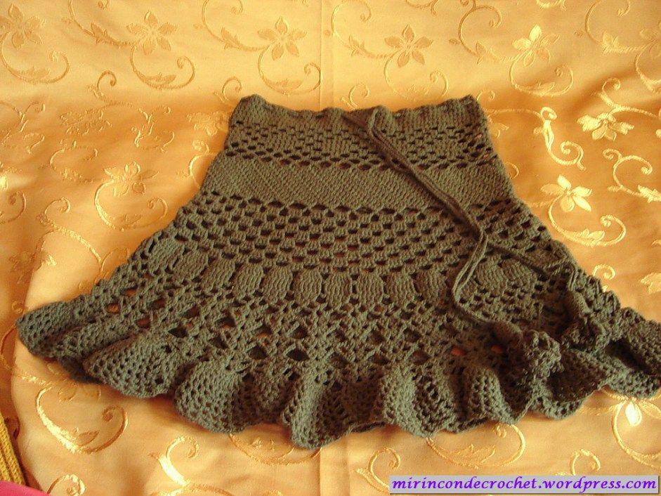 Flouncy Green Skirt free crochet graph pattern | Crochet Women\'s ...