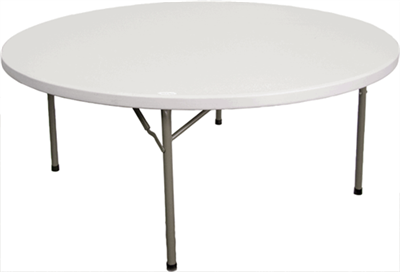 Wholesale Maine 72 Round Plastic Folding Tables 60 Inch
