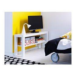 IKEA - LACK, Skrinka na TV, biela, , Otvor v zadnej časti vám umožní usporiadať káble.