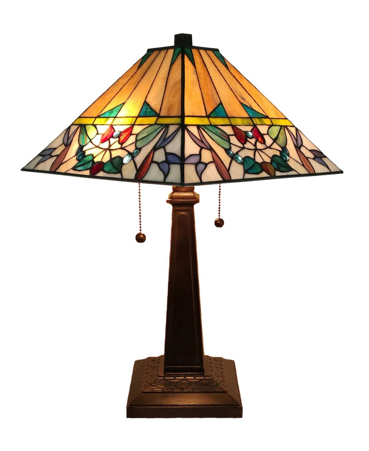 Amora Lighting Tiffany Style Mission Table Lamp Reviews Home Macy S In 2020 Stained Glass Table Lamps Tiffany Style Lamp Table Lamp