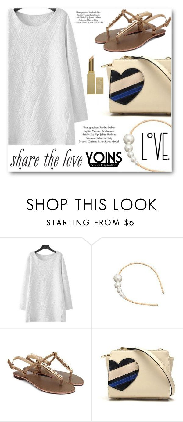 """""""YOINS"""" by angelstar92 ❤ liked on Polyvore featuring Yves Saint Laurent and yoins"""