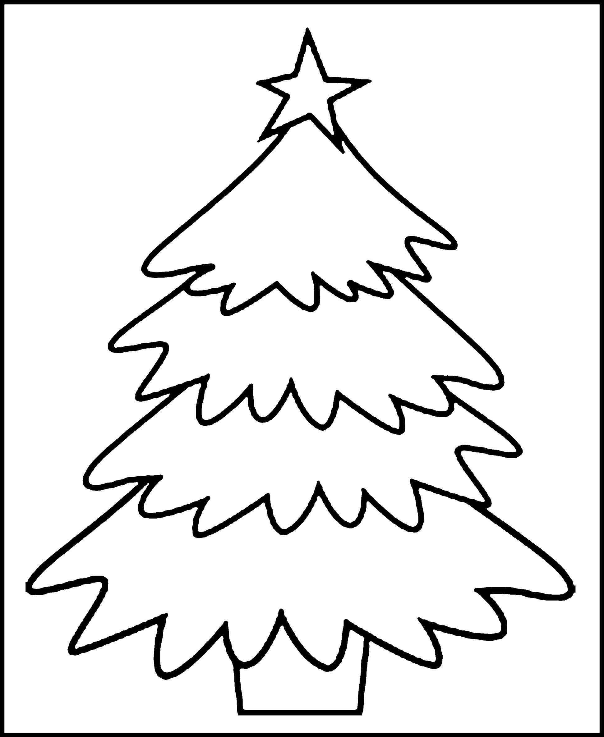New Post Blank Christmas Tree Coloring Pages Interesting Visit Xmastsite