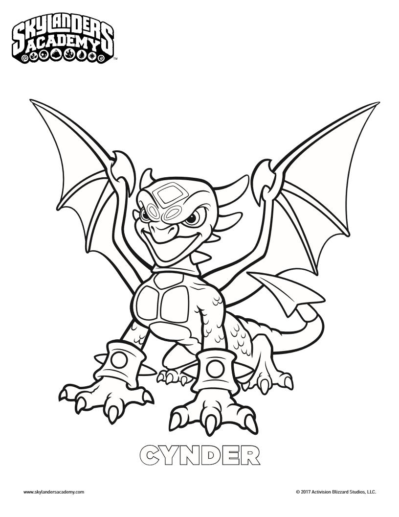 Free Skylanders Cynder Printable Coloring Page Coloring Pages Cartoon Coloring Pages Printable Coloring Pages