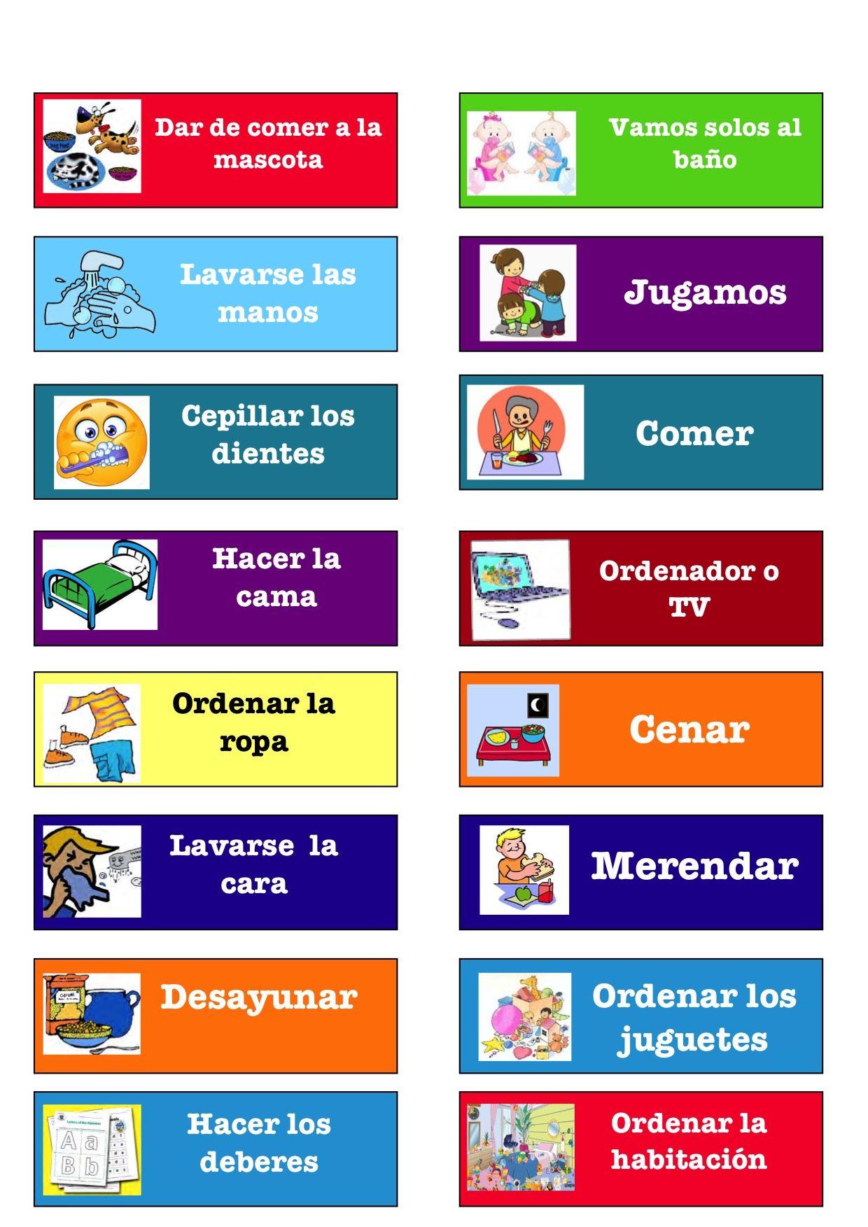 Calendario De Rutinas Tabla De Tareas Para Niños Recompensas Para Niños Horario Para Niños