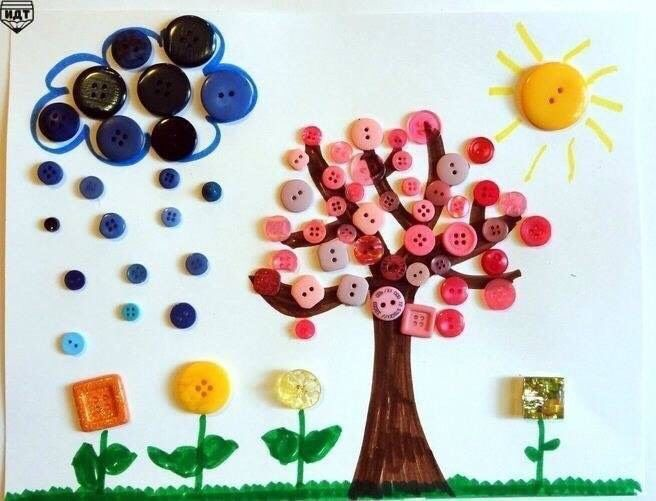 Button Craft Ideas For Kids Part - 20: Button Crafts Ideas For Kids! #Family #Kids #Musely #Tip