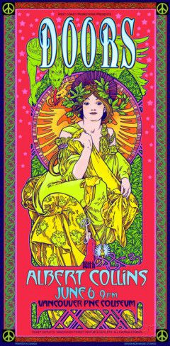 The Doors at Vancouver PNE Coliseum, 1970 Vancouver Posters by Bob Masse at AllPosters.com