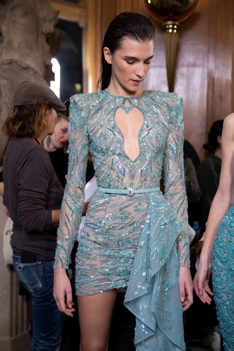 Zuhair Murad at Couture Spring 2019 - Backstage Runway Photos
