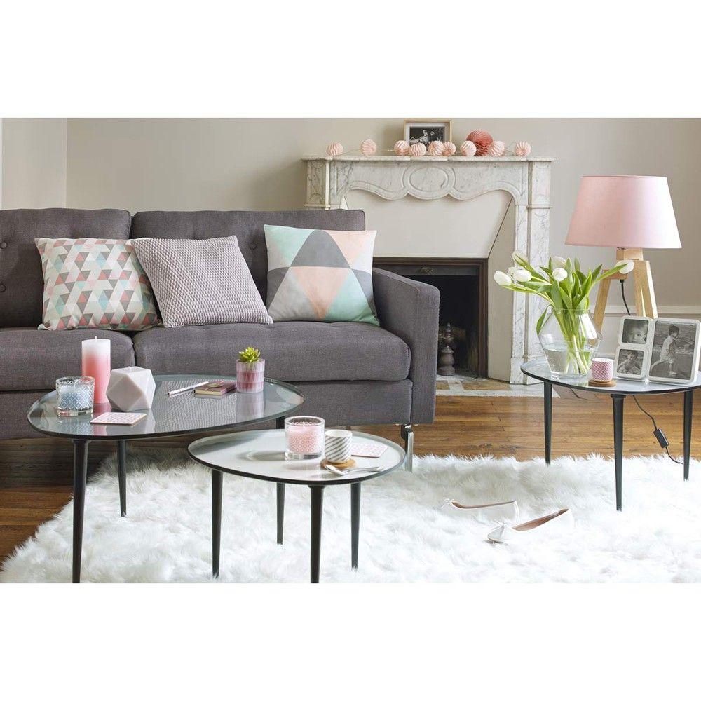 3 Tables Basses Gigognes En Metal L 59 Cm A L 75 Cm Maisons Du Monde Deco Salon Scandinave Idee Deco Salon Idee Decoration Salon