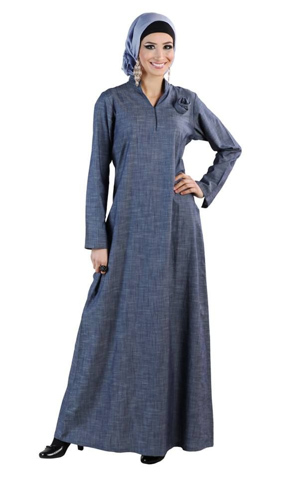 dce2c12c30770 This Denim Abaya is perfect for office, casual and special occasion ...