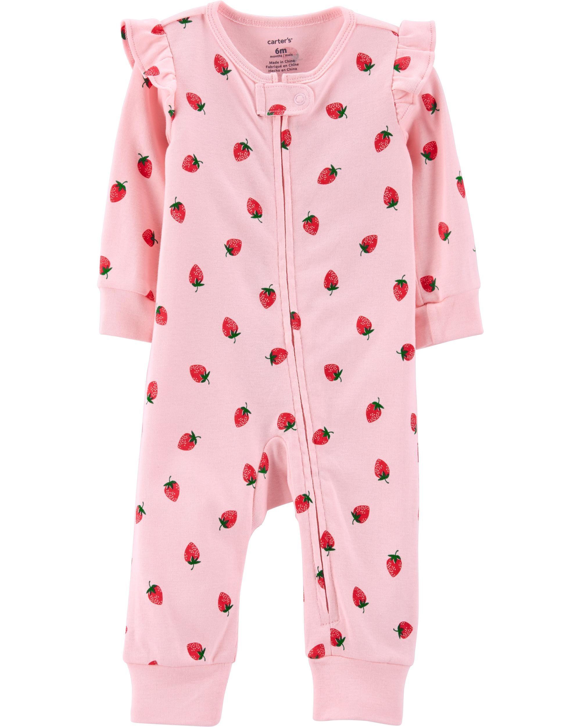 b774a00f4 Strawberry Zip-Up Footless Sleep   Play