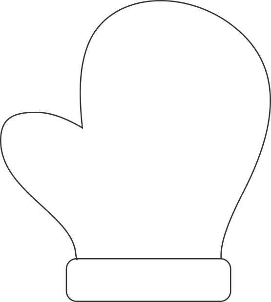 This is a graphic of Dashing Mitten Template Printable