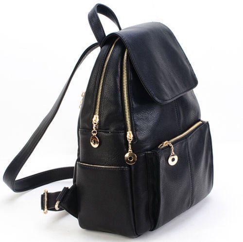 Women S New Backpack Travel Pu Leather Handbag Rucksack Shoulder School Bag