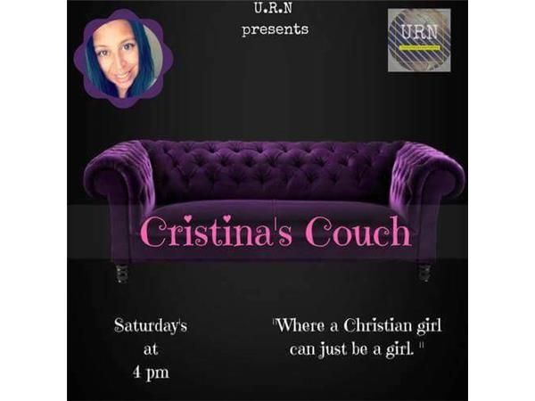 Cristina's Couch The place where, we get comfortable Speak about All God Has for Us... A place where Discussions Flow, Testimonies, Prayers and Requested are brought Openly But Most of All it is a Place Where God Speaks!!