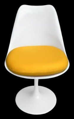Premium Replacement Cushion For Saarinen Tulip Side Chair Yellow
