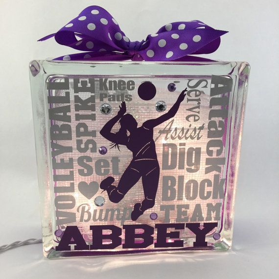 Volleyball Typography Diy Vinyl For Glass Block Volleyball Gifts Volleyball Decor Sports Decor Personalized Volleyball Gifts Volleyball Senior Gifts Volleyball Senior Night Gifts