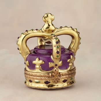 Limoges Purple and Gold Crown Box - $159.00