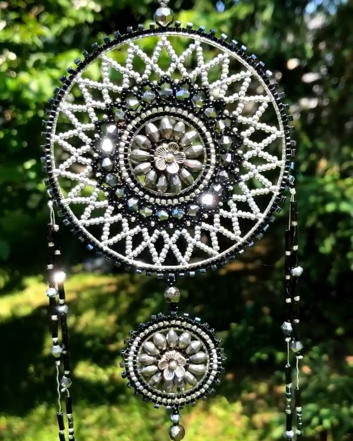 This beautiful beaded dream catcher is now available at SplendidBeads's Etsy Shop