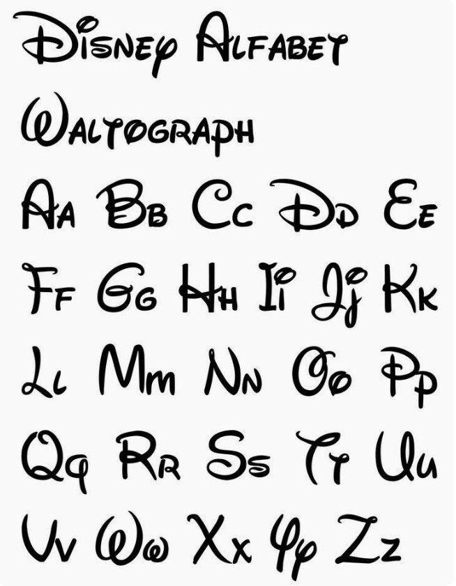 Ecriture Stylée Alphabet disney style | getting crafty! | pinterest | Écriture disney, dessin