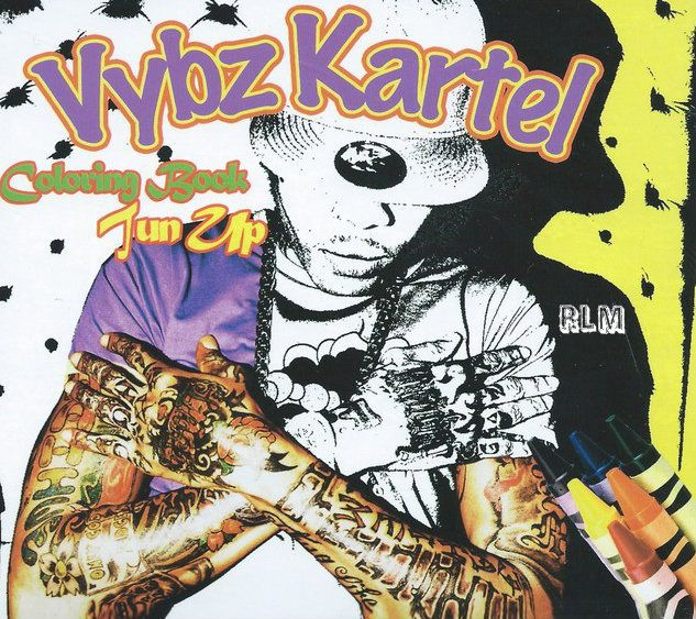 Vybz Kartel Colouring Book Tun Up 2cd Coloring Books Vybz Kartel Books