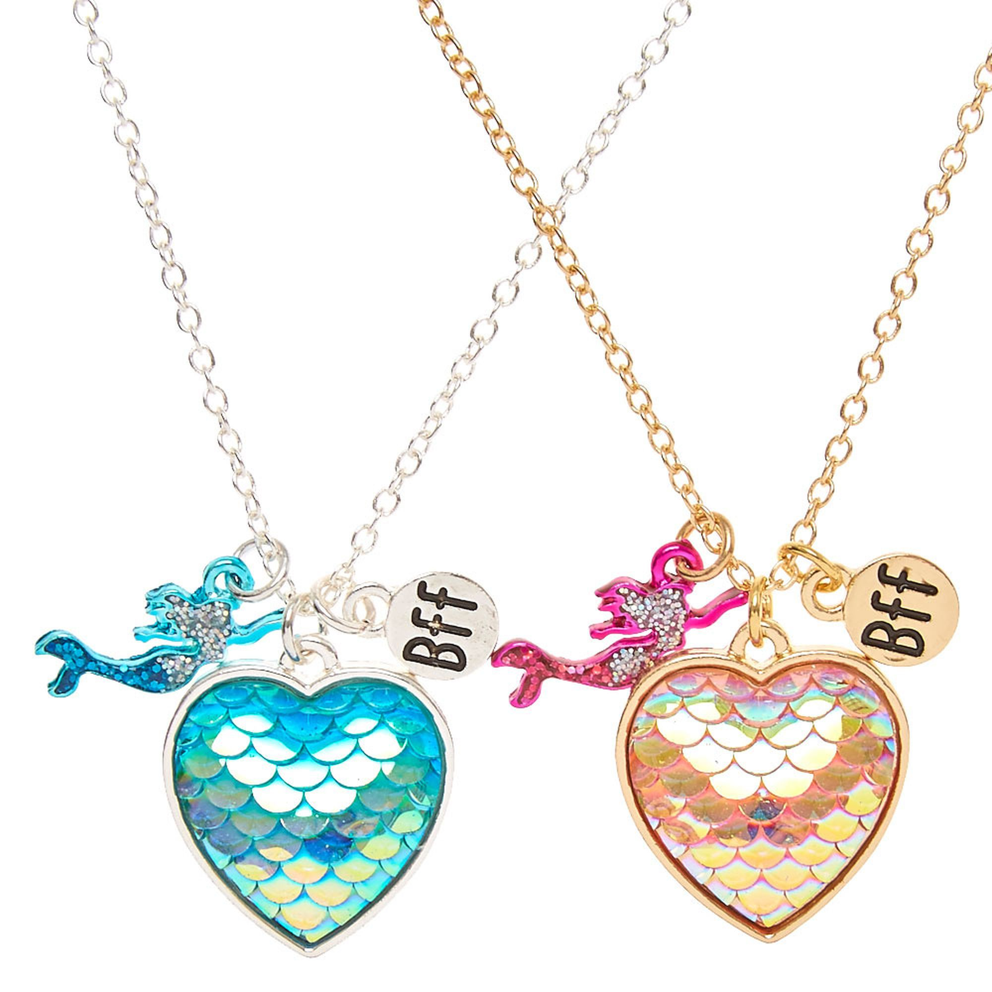 pastel claire pendant us necklaces lockets s best heart friendship friends locket glitter