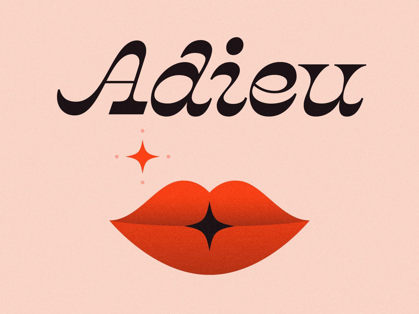 Adieu | typo | Typography design, Graphic design ...