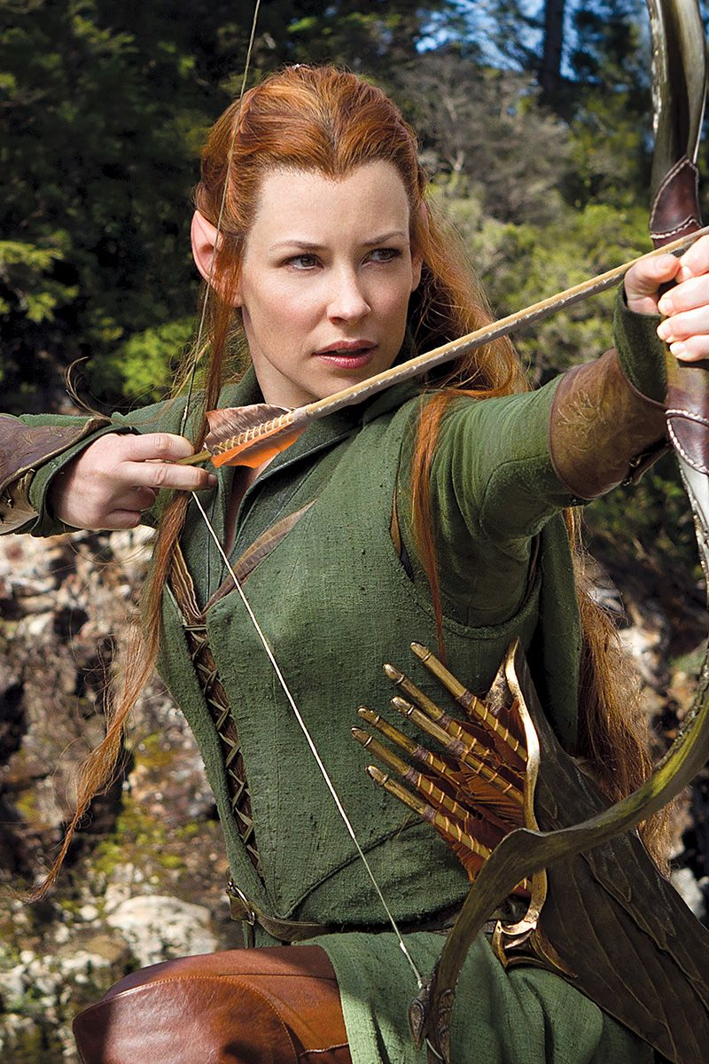 evangeline lilly as tauriel in the hobbit the desolation