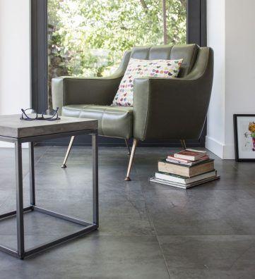 perspective bout de canap design minimaliste en bton et mtal - Bout De Canape Design