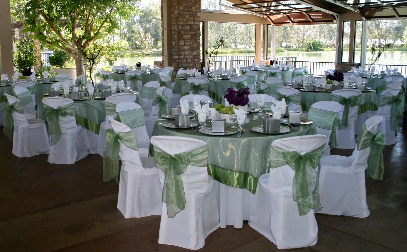 silver and lime green weddings | ... green bouquets with purple ...