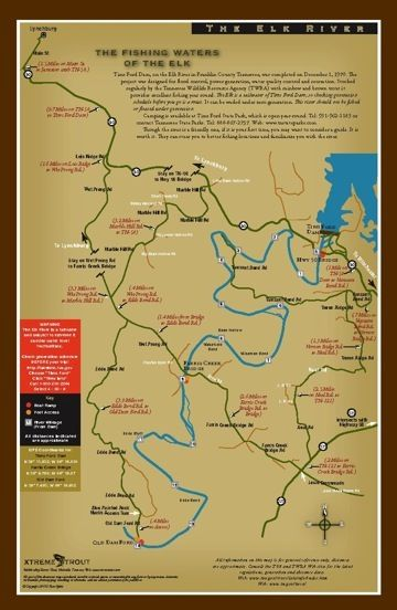 Fly Fishing Tennessee Map.Tennessee Fly Fishing Map Elk River Mike S Fly Fishing Tennessee