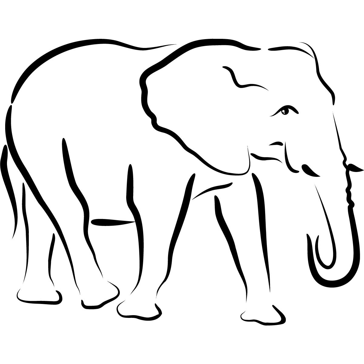 Images For > Elephant Head Profile Outline | Elephants ...