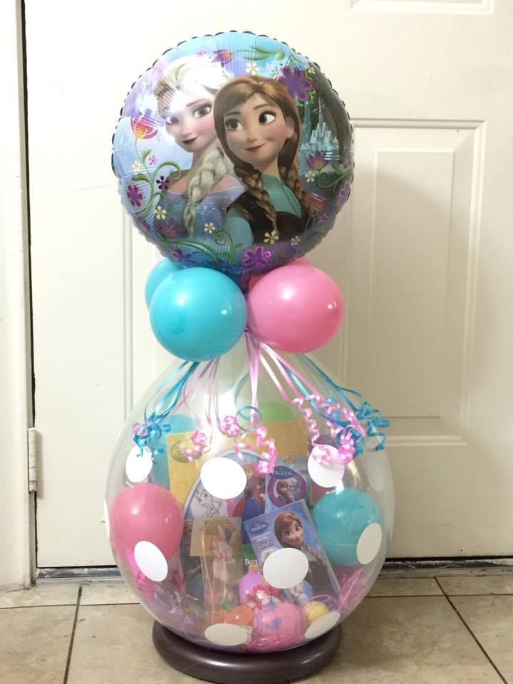Frozen easter stuffed balloon basket craft ideas for Frozen balloon ideas