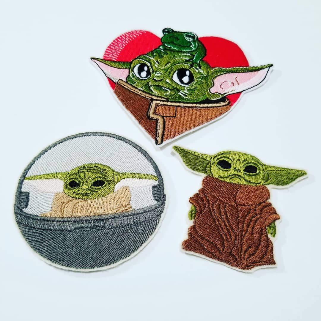 Embroidered baby yoda patches star wars baby yoda gifts