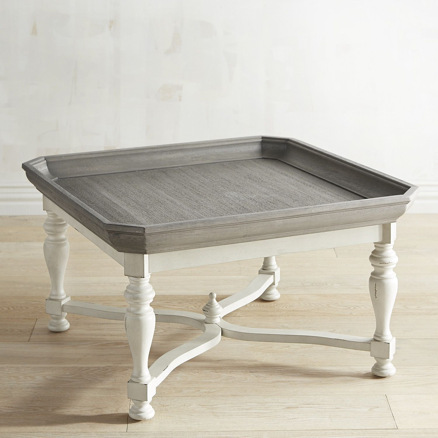 Amelia Shadow Gray Square Coffee Table