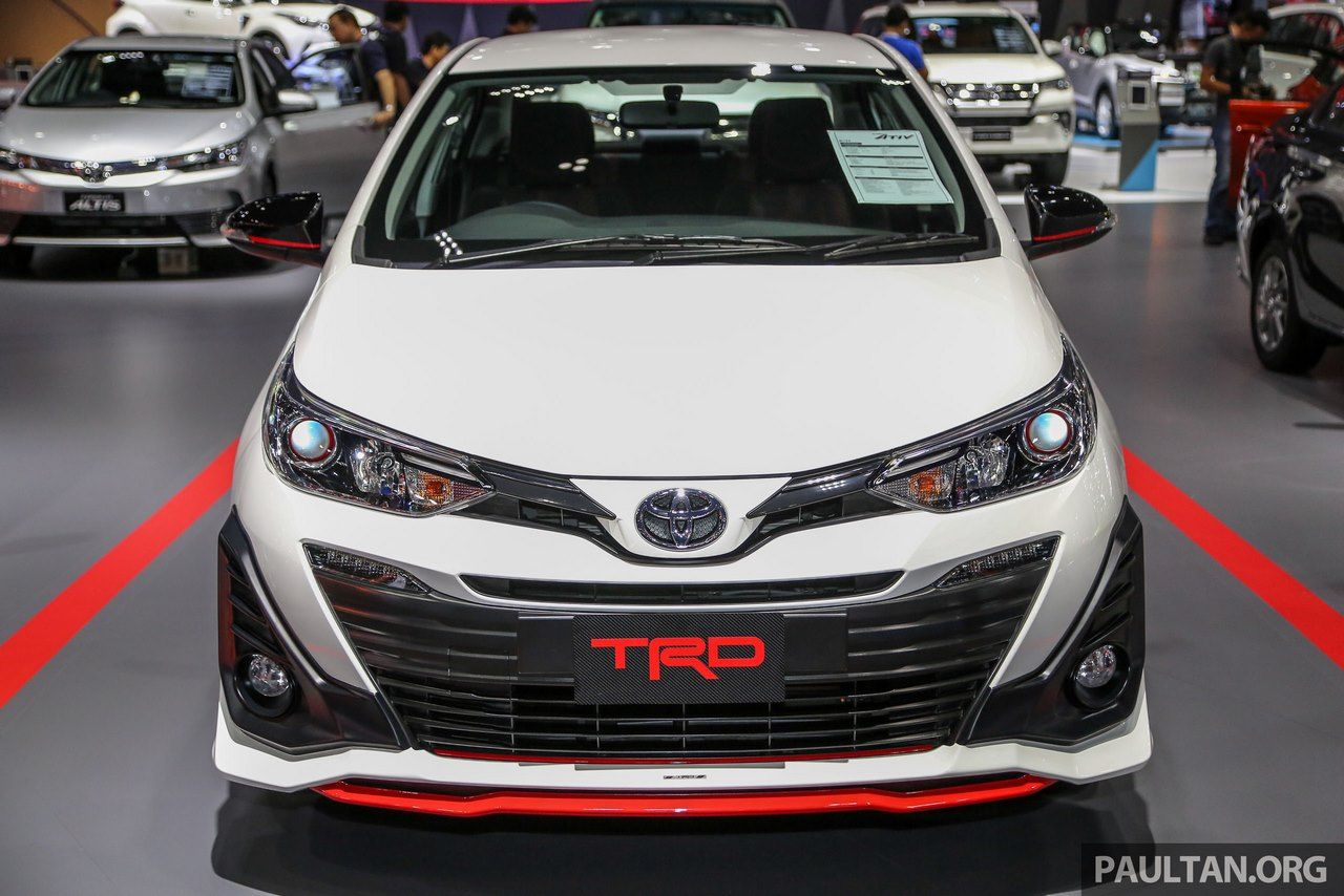 Trd Variant Of The India Bound Toyota Yaris Unveiled At Bangkok Motor Show Yaris Toyota Toyota Vios