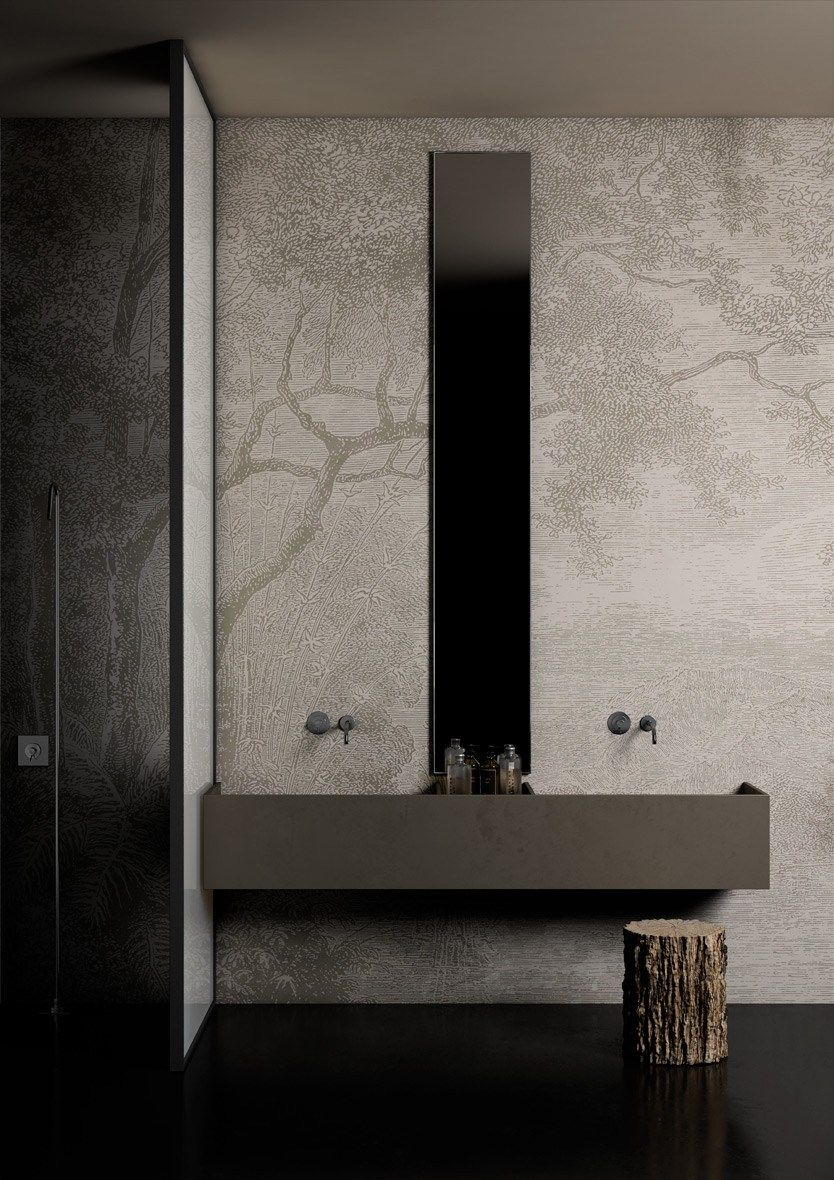 Wallcovering For Bathroom And Wellness