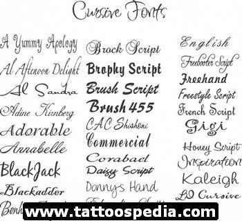 Pin by Desiree Dow on Tats & Piercings | Tattoo fonts cursive