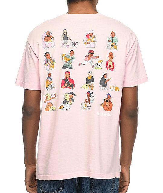 Dog Limited Rappers With Puppies Pink T-Shirt | Rapper ...