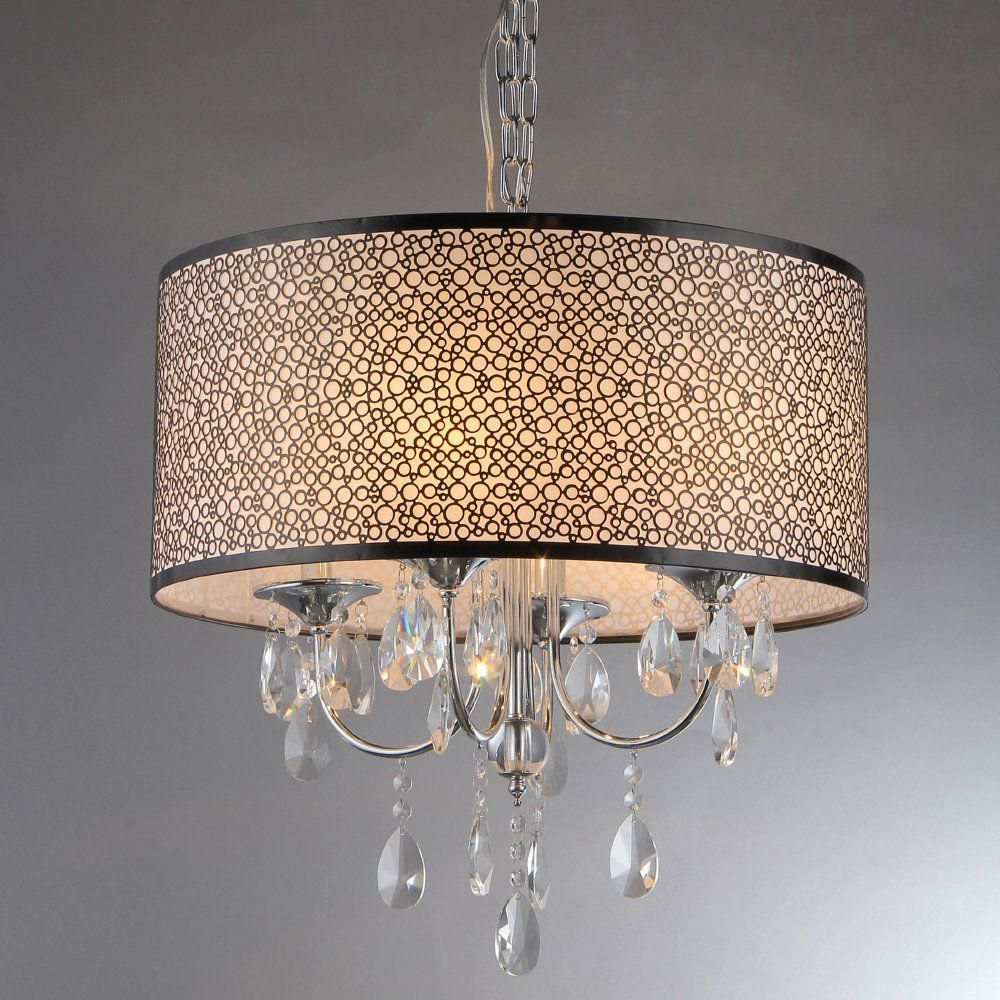 Warehouse Of Tiffany Lush 3 Light Chrome Chandelier With Shade Rl13224 The Home Depot Crystal Chandelier Warehouse Of Tiffany Chrome Chandeliers