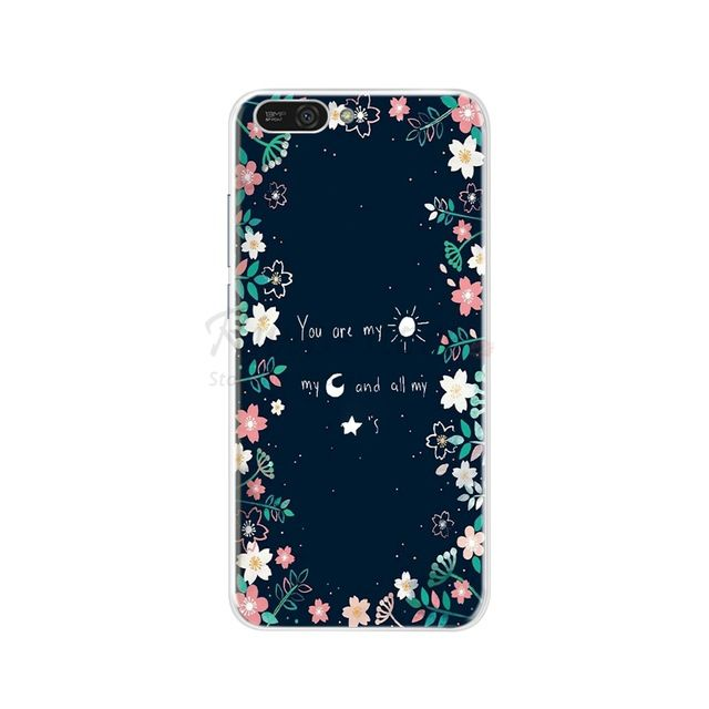 Silicone Case For Huawei Honor 7a Pro Case Huawei Y6 2018 Prime Cover For Huawei Y5 Prime 2018 Phone Back Cover Tpu Bumper Coque In Fitted Fundas Huawei Fondos