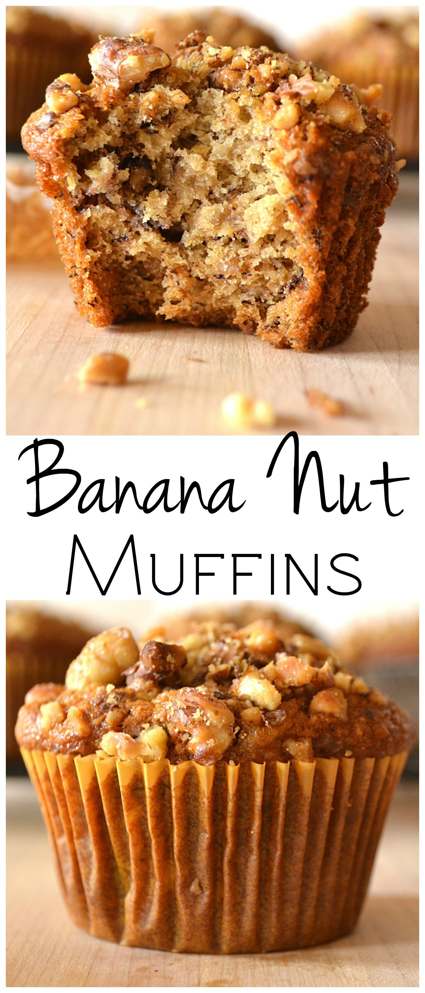 Banana Nut Muffins Recipe Banana Nut Muffins Easy Baking Banana Nut Muffin Recipe