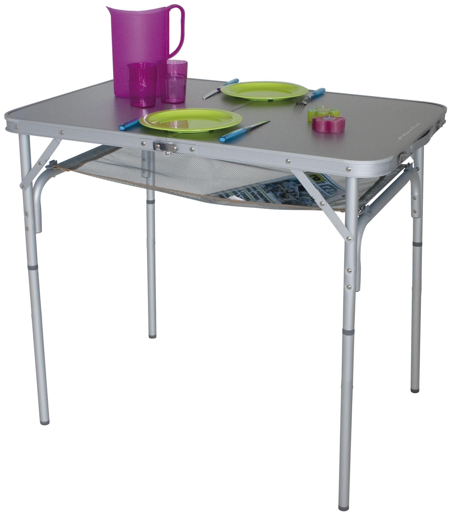 Tisch MONNAI 90 x 60 cm #Campingtisch #EuroTrail #Netzablage ...