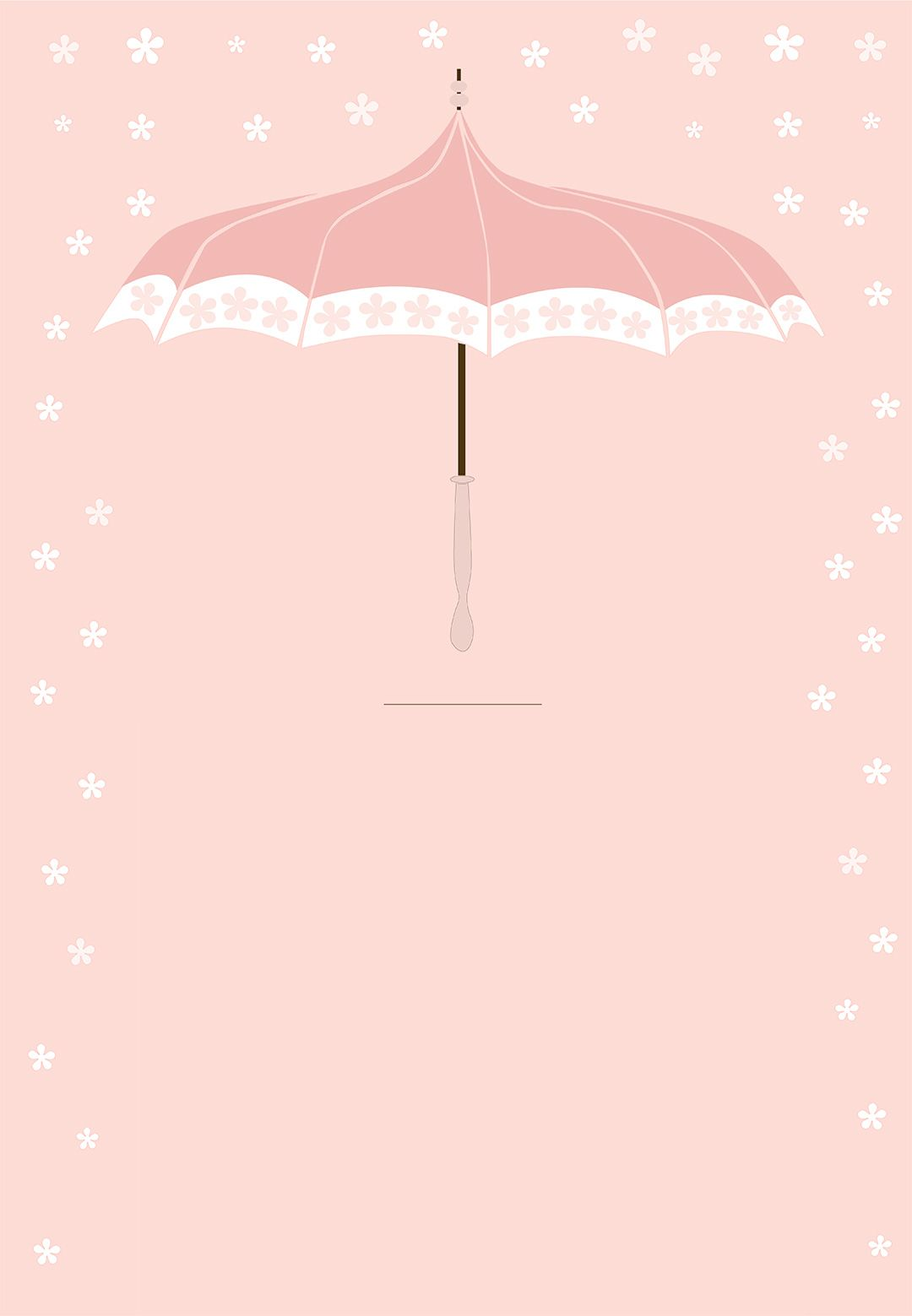 Floral Umbrella Free Printable Baby Shower Invitation Template