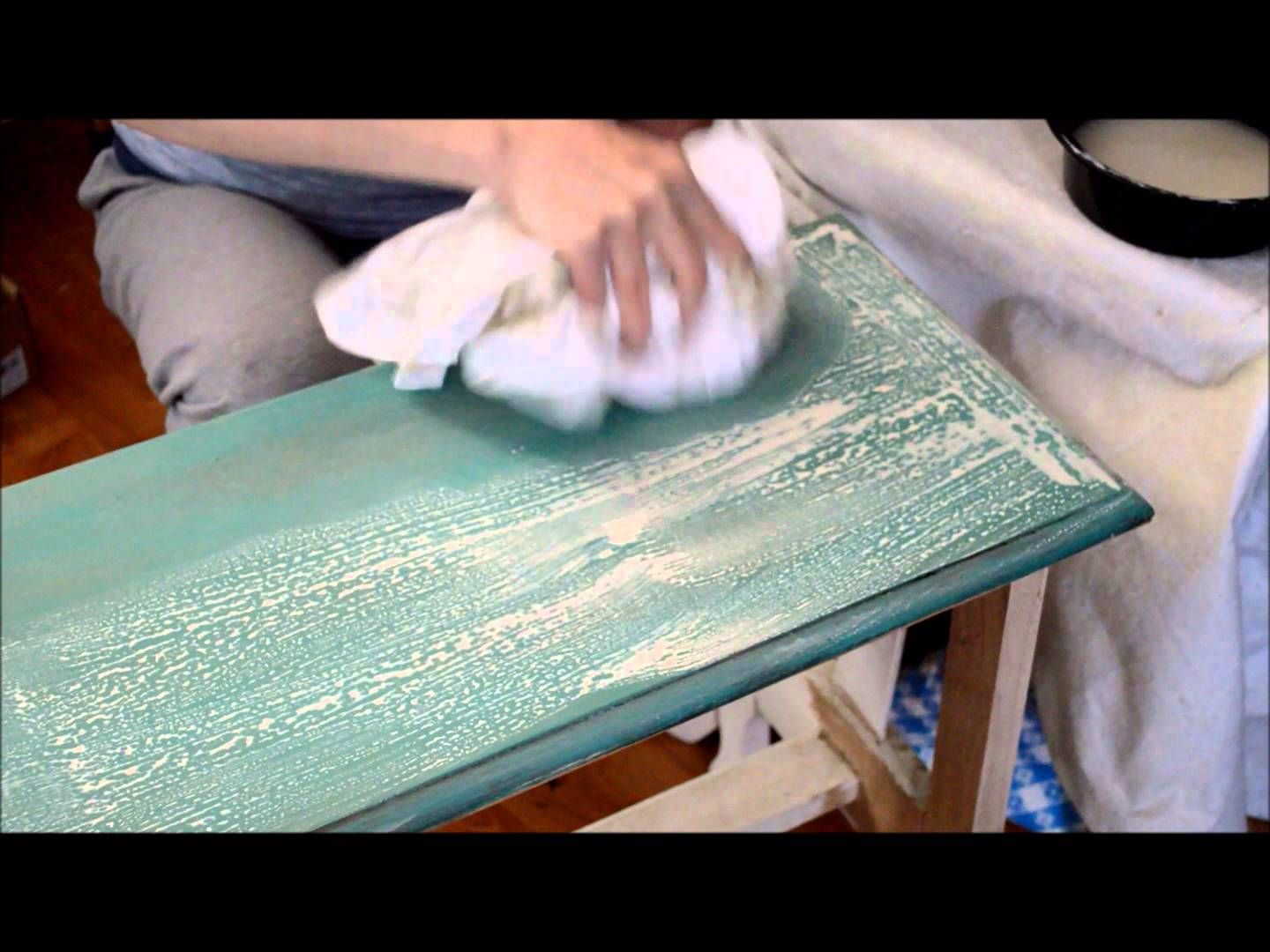 Adding A Chalk Paint Wash Over Wax - YouTube | Furniture Painting ...