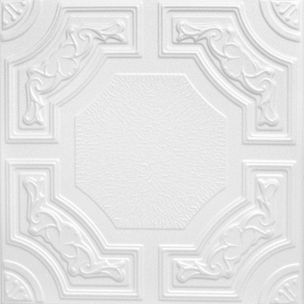 A la maison ceilings evergreen 16 ft x 16 ft foam glue up foam glue up ceiling tile in plain white 216 sq ft case dailygadgetfo Choice Image