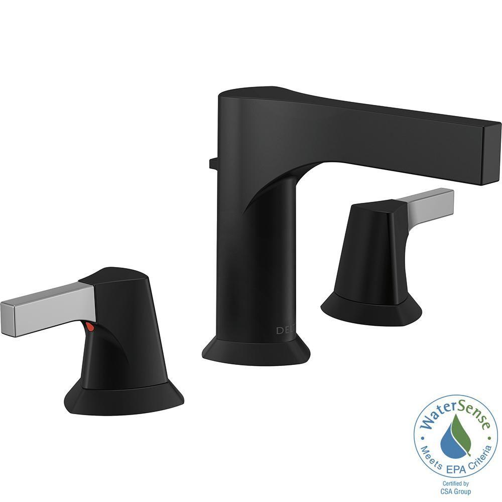 Delta Zura 8 in. Widespread 2-Handle Bathroom Faucet with Metal Pop ...